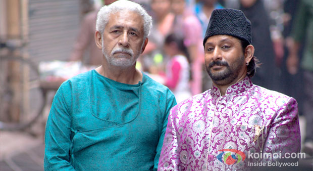 Naseeruddin Shah And Arshad Warsi in Dedh Ishqiya Movie Stills