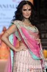 Neha Dhupia walks the ramp for Gitanjali show at IIJW 2013 Delhi