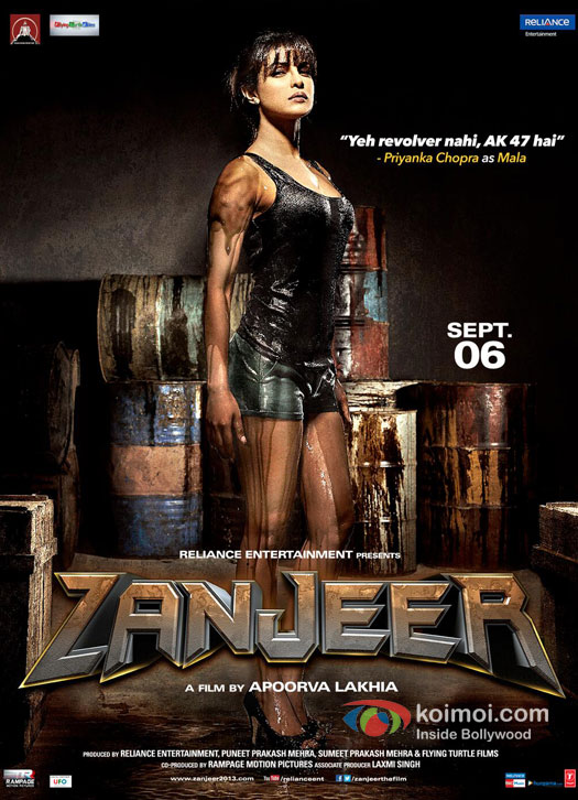 Priyanka Chopra In Zanjeer 2013 Movie New Poster