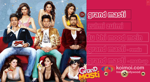 Riteish Deshmukh, Vivek Oberoi And Aftab Shivdasani in Grand Masti Jukebox