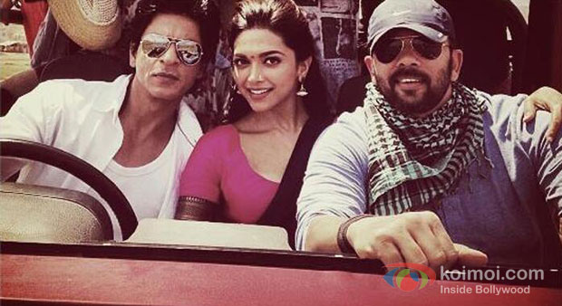 Shah Rukh Khan, Deepika Padukone And Rohit Shetty in Chennai Express Behind The Scenes Stills