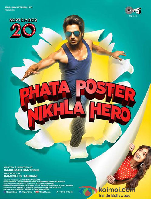 Shahid Kapoor And Ileana D'Cruz in Phata Poster Nikhla Hero Movie Poster