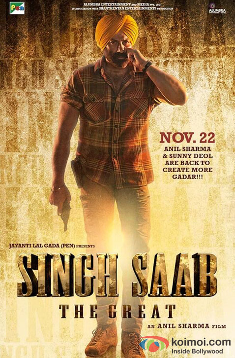Sunny Deol in Singh Saab The Great Movie Poster Pic 2