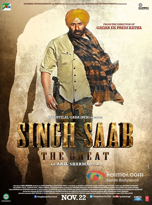 Sunny Deol in Singh Saab The Great Movie Poster Pic 1