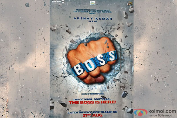 Akshay Kumar starrer Boss Movie Motion Poster