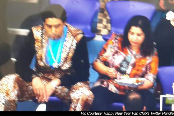 Abhishek Bachchan And Farah Khan On the Sets Of Happy New Year