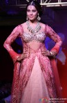 Bipasha Basu walks the ramp for Designers Anjalee and Arjun Kapoor's couture collection Jamawar Aria