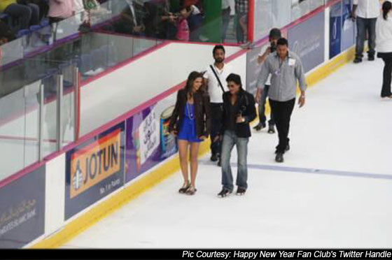 Deepika Padukone And Shah Rukh Khan On the Sets Of Happy New Year Pic 2
