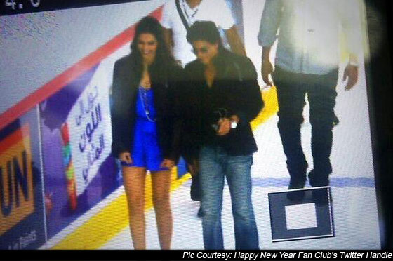 Deepika Padukone And Shah Rukh Khan On the Sets Of Happy New Year Pic 1