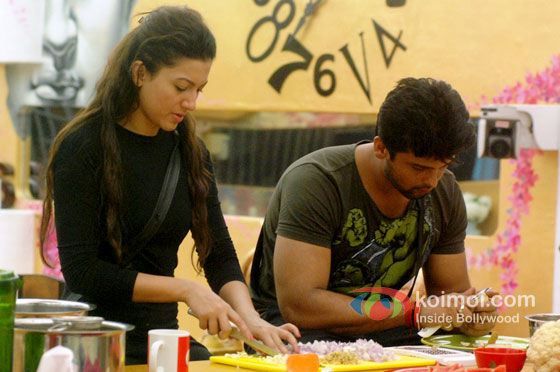 Gauahar Khan And Kushal Tandon in Big Boss 7