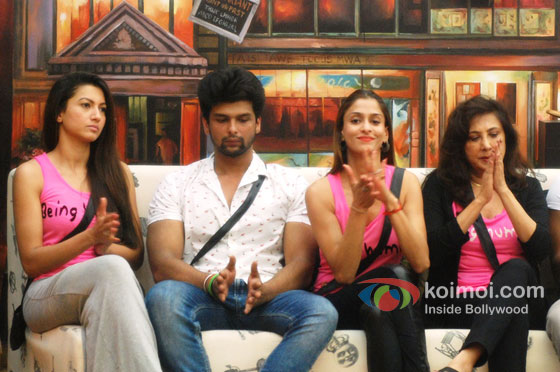 Gauahar Khan, Kushal Tandon And Anita Advani in Big Boss 7