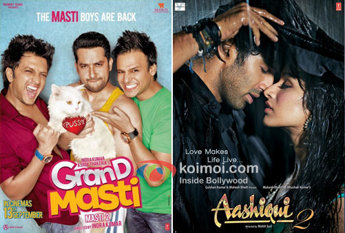 Grand Masti And Aashiqui 2 Movie Poster