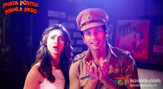 Ileana D'Cruz And Shahid Kapoor in a still from Phata Poster Nikhla Hero