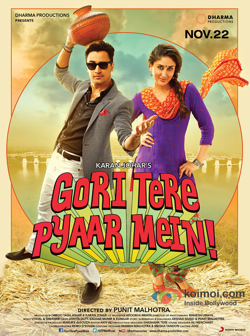 Imran Khan And Kareena Kapoor in Gori Tere Pyaar Mein Movie Poster