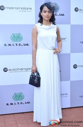 Kangana Ranaut during the Metro Motors Auto Hangar H M Mehta Trophy 2013