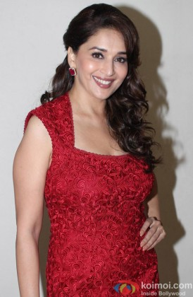 Madhuri Dixit during the promotional event of film 'Dedh Ishqiya'