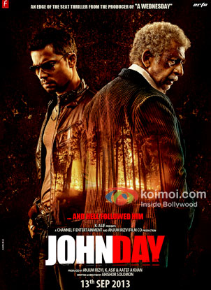 Randeep Hooda And Naseeruddin Shah in John Day Movie Review ( Randeep Hooda And Naseeruddin Shah in John Day Movie Poster)