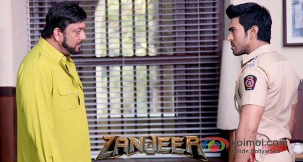 Sanjay Dutt And Ram Charan Teja in Zanjeer 2013 Movie Review (Sanjay Dutt And Ram Charan Teja in Zanjeer 2013 Movie Stills)