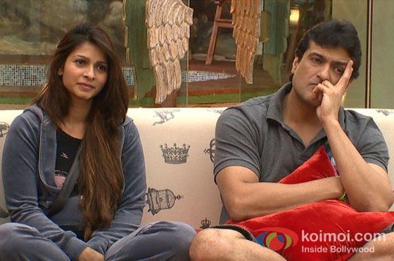 Tanishaa Mukherji And Armaan Kohli in Big Boss 7