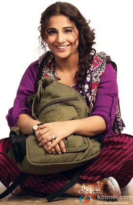 Vidya Balan gives a cute pose for the shutterbugs