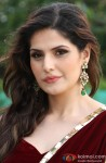 Zarine Khan smiles for the shutterbugs