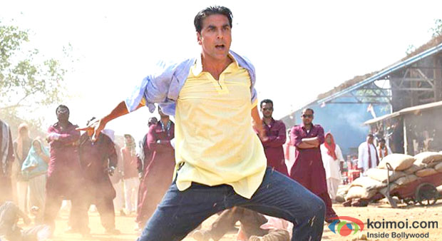 Akshay Kumar in a still from Boss