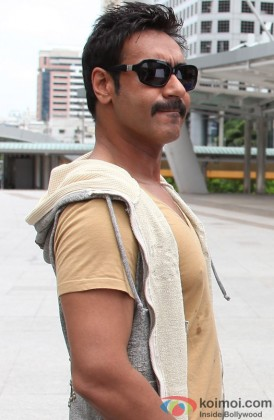 A Stylish Ajay Devgn Snapped At A Shoot