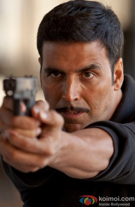 Akshay Kumar Points A Gun In A Still From His Film