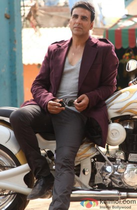 Akshay Kumar Poses With His Bike
