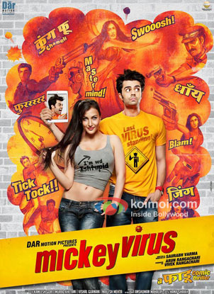 Elli Avram And Manish Paul in Mickey Virus Movie Review (Elli Avram And Manish Paul in Mickey Virus Movie Poster)