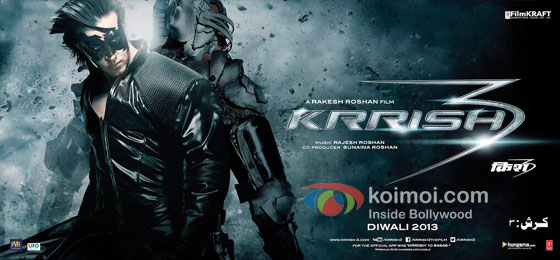Hrithik Roshan in Krrish 3 Movie Poster