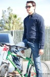 Imran Khan Looking Handsome On A Bicycle