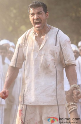 John Abraham In A Still From His Movie Shootout At Wadala