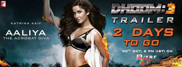 Katrina Kaif in a Dhoom:3 motion poster