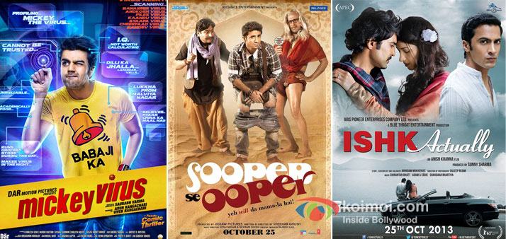 Mickey Virus, Sooper Se Ooper And Ishk Actually Movie Poster