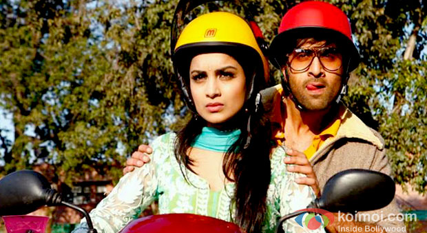 Pallavi Sharda And Ranbir Kapoor in still from Besharam