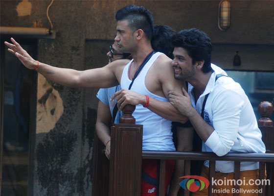 Sangram Singh And Kushal Tandon in Bigg Boss 7