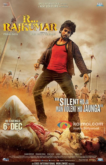 Shahid Kapoor in R…Rajkumar Movie Poster