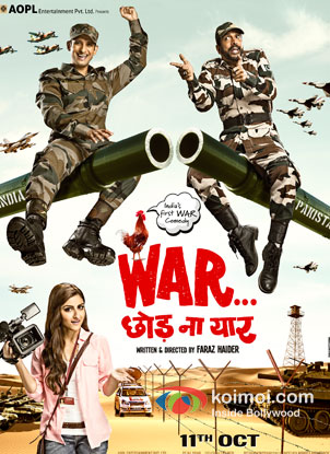 Sharman Joshi, Soha Ali Khan And Javed Jafferi in War Chhod Na Yaar Movie Review (Sharman Joshi, Soha Ali Khan And Javed Jafferi in War Chhod Na Yaar Movie Poster)