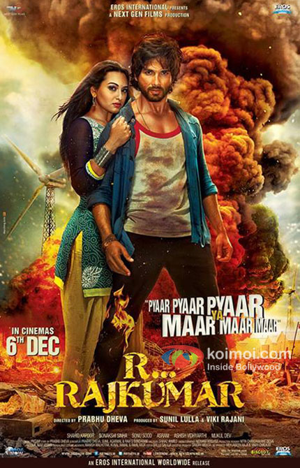 Sonakshi Sinha And Shahid Kapoor in R… Rajkumar Movie Poster