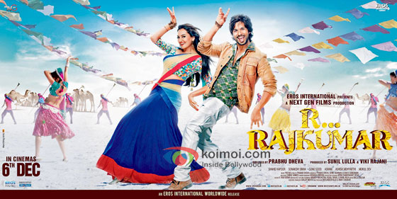 Sonakshi Sinha And Shahid Kapoor in R... Rajkumar Movie Poster