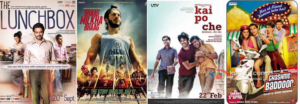 The Lunchbox, Bhaag Milkha Bhaag, Kai Po Che! and Chashme Baddoor