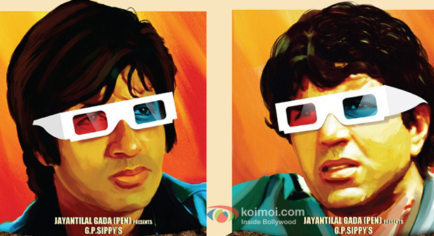 Amitabh Bachchan and Dharmendra in Sholay 3D