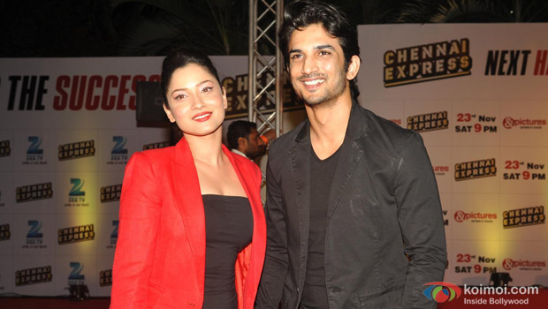 Ankita Lokhande and Sushant Singh Rajput at an event
