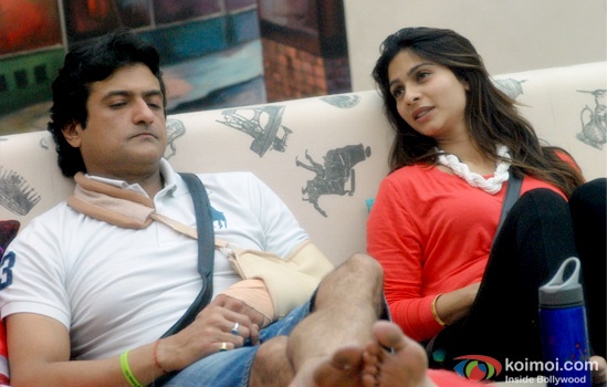 Armaan Kohli and Tanishaa Mukherjee in Bigg Boss 7