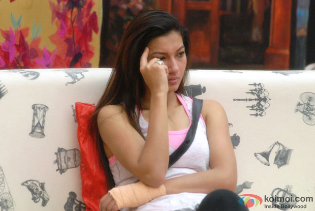 upset Gauhar Khan (Bigg Boss 7)