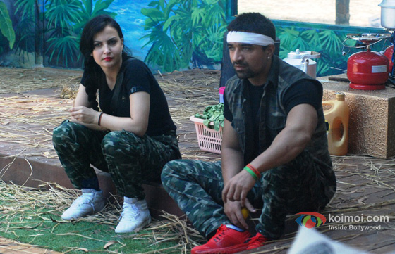 Elli Avram and Ajaz Khan in Bigg Boss 7