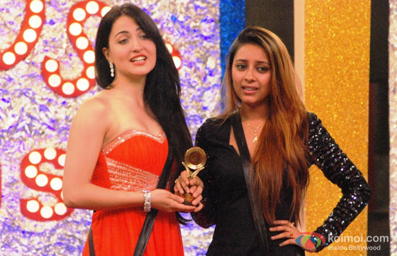 Elli Avram and Pratyusha Banerjee in Bigg Boss 7