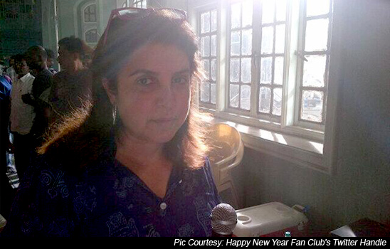 Farah Khan on the sets of Happy New Year