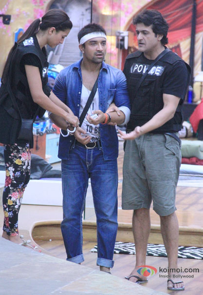 Gauhar Khan, Ajaz Khan and Armaan Kohli in Bigg Boss 7